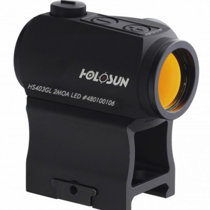 Коллиматорный прицел Holosun Paralow HS403GL 2 MOA на Weaver